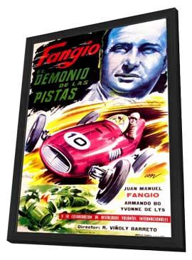 Fangio, el demonio de las pistas - 11 x 17 Movie Poster - Argentine Style A - in Deluxe Wood Frame