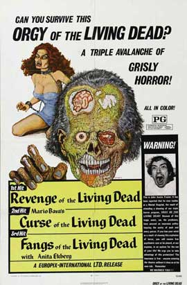 Fangs of the Living Dead - 11 x 17 Movie Poster - Style A