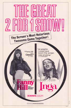 Fanny Hill/Inga - 27 x 40 Movie Poster - Style A