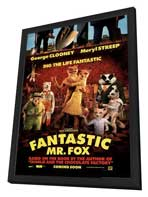 Fantastic Mr. Fox - 27 x 40 Movie Poster - Style A - in Deluxe Wood Frame