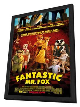 Fantastic Mr. Fox - 27 x 40 Movie Poster - Style C - in Deluxe Wood Frame