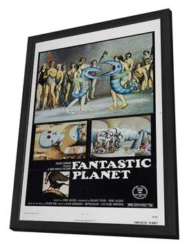 Fantastic Planet - 11 x 17 Movie Poster - Style A - in Deluxe Wood Frame