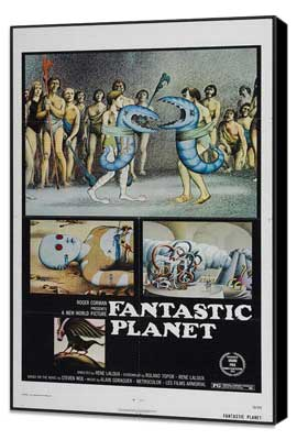 Fantastic Planet - 11 x 17 Movie Poster - Style A - Museum Wrapped Canvas