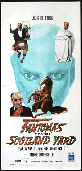 Fantomas Against Scotland Yard - 27 x 40 Movie Poster - German Style A
