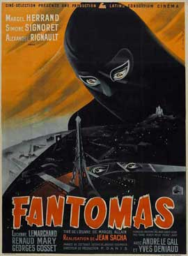 Fantomas - 27 x 40 Movie Poster - French Style A