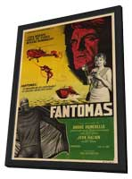 Fantomas - 11 x 17 Movie Poster - Argentine Style A - in Deluxe Wood Frame