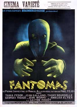 Fantomas - 11 x 17 Movie Poster - Belgian Style A