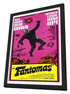 Fantomas - 14 x 36 Movie Poster - Insert Style A - in Deluxe Wood Frame