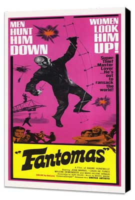 Fantomas - 14 x 36 Movie Poster - Insert Style A - Museum Wrapped Canvas