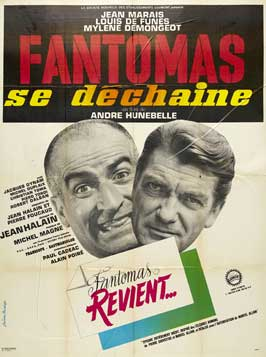 Fantomas se dechaine - 27 x 40 Movie Poster - French Style A