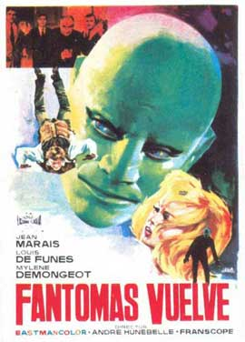 Fantomas Strikes Back - 11 x 17 Movie Poster - Spanish Style A