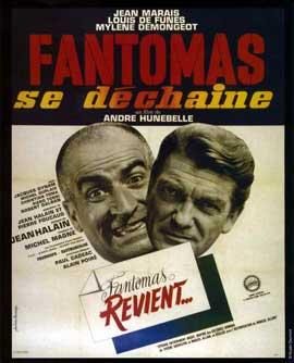 Fantomas Strikes Back - 11 x 17 Movie Poster - French Style B