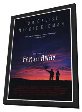 Far and Away - 27 x 40 Movie Poster - Style A - in Deluxe Wood Frame