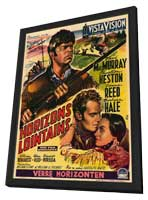 Far Horizons - 11 x 17 Movie Poster - Belgian Style A - in Deluxe Wood Frame
