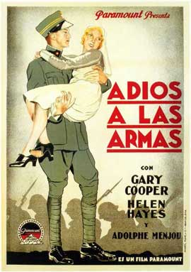 A Farewell to Arms - 11 x 17 Movie Poster - Spanish Style A