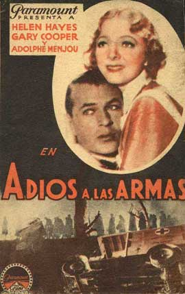 A Farewell to Arms - 11 x 17 Movie Poster - Spanish Style B