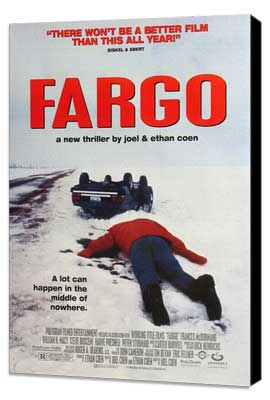 Fargo - 11 x 17 Movie Poster - Style D - Museum Wrapped Canvas