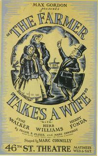 Farmer Takes A Wife, The (Broadway) - 14 x 22 Poster - Style A