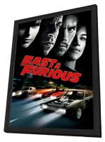 Fast and Furious 4 - 11 x 17 Movie Poster - UK Style B - in Deluxe Wood Frame