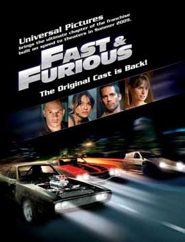 Fast and Furious 4 - 11 x 17 Movie Poster - UK Style C