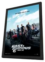 Fast & Furious 6 - 11 x 17 Movie Poster - Style B - in Deluxe Wood Frame