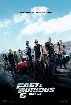 Fast & Furious 6 - 27 x 40 Movie Poster - Style B