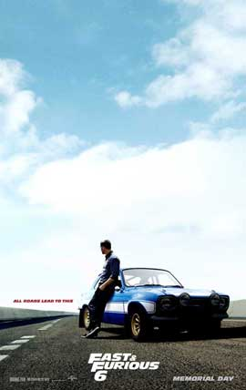 Fast & Furious 6 - 27 x 40 Movie Poster - Style C