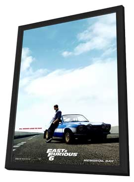 Fast & Furious 6 - 27 x 40 Movie Poster - Style C - in Deluxe Wood Frame