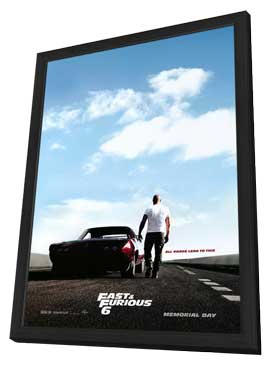 Fast & Furious 6 - 27 x 40 Movie Poster - Style A - in Deluxe Wood Frame