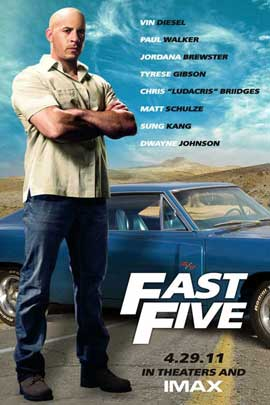 Fast Five - 11 x 17 Movie Poster - Style B