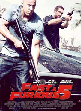 Fast Five - 27 x 40 Movie Poster - French Style A