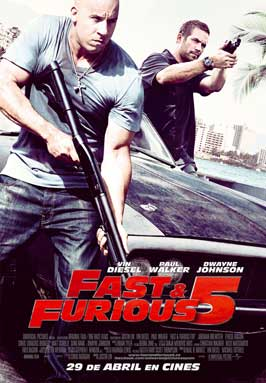Fast Five - 43 x 62 Movie Poster - Spanish Style A