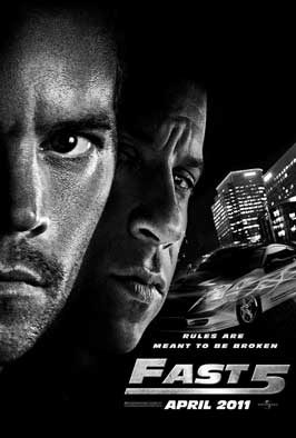 Fast Five - 43 x 62 Movie Poster - Bus Shelter Style A