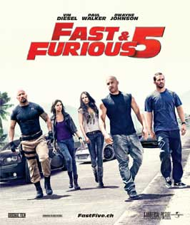Fast Five - 11 x 14 Poster Switzerland Style A