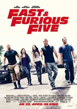 Fast Five - 11 x 17 Movie Poster - German Style A