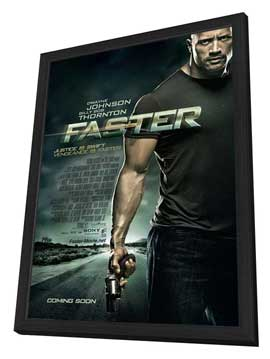 Faster - 11 x 17 Movie Poster - Style A - in Deluxe Wood Frame