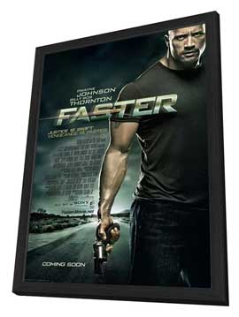Faster - 27 x 40 Movie Poster - Style A - in Deluxe Wood Frame