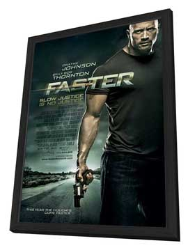Faster - 27 x 40 Movie Poster - Style D - in Deluxe Wood Frame