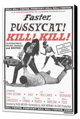 Faster, Pussycat! Kill! Kill! - 27 x 40 Movie Poster - Style B - Museum Wrapped Canvas