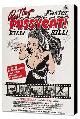Faster, Pussycat! Kill! Kill! - 27 x 40 Movie Poster - French Style A - Museum Wrapped Canvas