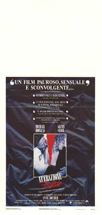 Fatal Attraction - 13 x 28 Movie Poster - Italian Style A