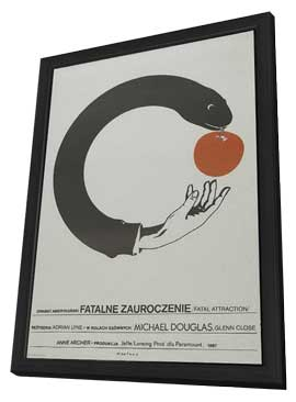 Fatal Attraction - 27 x 40 Movie Poster - Polish Style A - in Deluxe Wood Frame