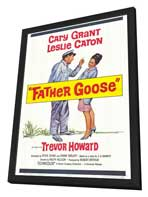 Father Goose - 27 x 40 Movie Poster - Style A - in Deluxe Wood Frame