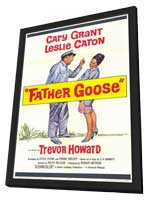 Father Goose - 11 x 17 Movie Poster - Style A - in Deluxe Wood Frame