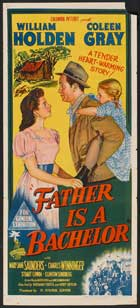Father Is a Bachelor - 13 x 30 Movie Poster - Australian Style A