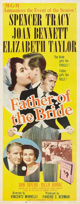 Father of the Bride - 14 x 36 Movie Poster - Insert Style B