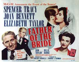 Father of the Bride - 27 x 40 Movie Poster - Style D
