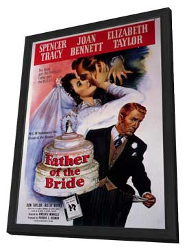 Father of the Bride - 11 x 17 Movie Poster - Style A - in Deluxe Wood Frame