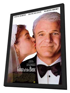 Father of the Bride - 27 x 40 Movie Poster - Style A - in Deluxe Wood Frame