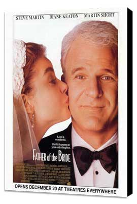 Father of the Bride - 27 x 40 Movie Poster - Style B - Museum Wrapped Canvas